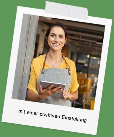 Job mit positiver Einstellung
